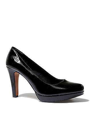 Plateau-Pumps in Leder-Optik