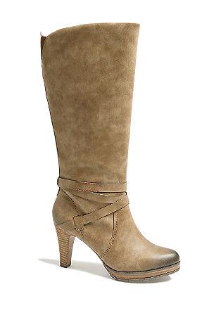 Plateau-Stiefel in Leder-Optik