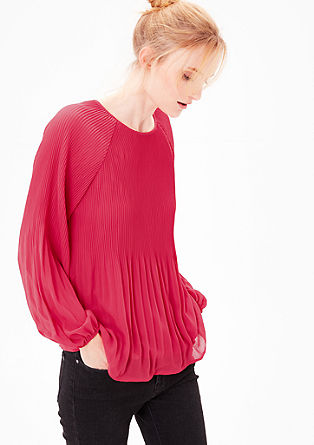 Pleated crêpe blouse from s.Oliver