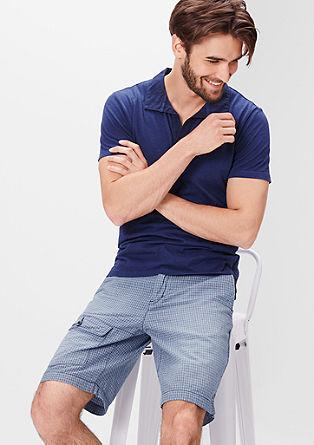 Plek Loose: hlače chino z drobnim vzorcem