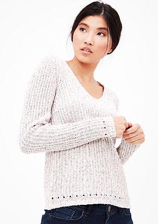 Pleten pulover iz trakaste preje