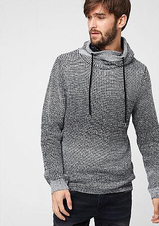 Pleten pulover s cevastim ovratnikom