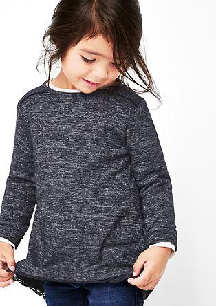 Pleten pulover s čipko