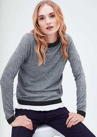 Pleten pulover s finim vzorcem