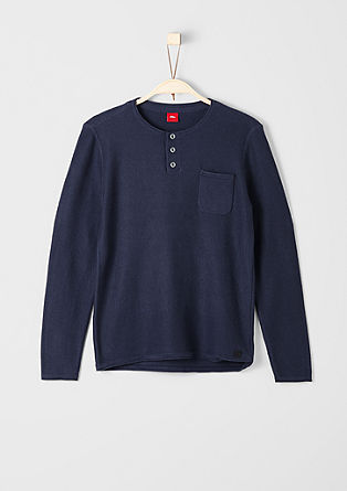 Pleten pulover s prsnim žepom