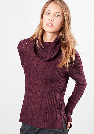 Pleten pulover s puli ovratnikom