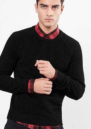 Pleten pulover s strukturnim vzorcem