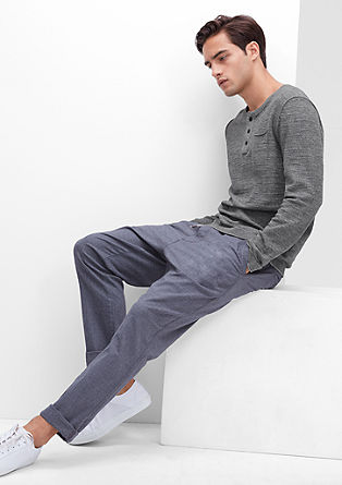 Pleten pulover s teksturo melange