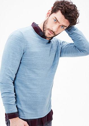 pleten pulover s teksturo
