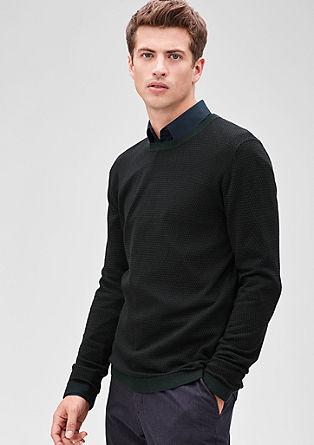 Pleten pulover z drobnim vzorcem