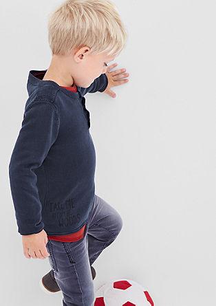 Pleten pulover z gumbi