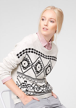 Pleten pulover z inkovskim vzorcem