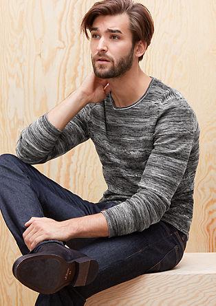 Pleten pulover z melange vzorcem