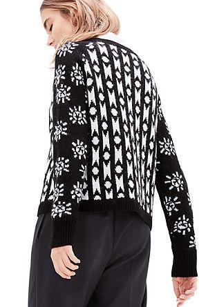 Pleten pulover z moherjem in alpako