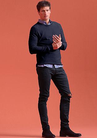 Pleten pulover z okroglim izrezom
