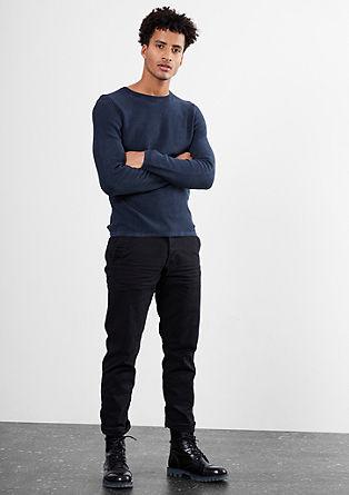 Pleten pulover z učinkom barvanja s pigmentiranjem