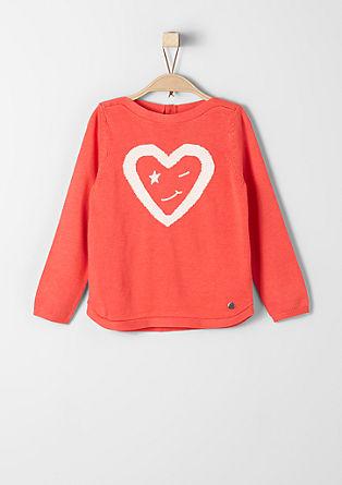 Pleten pulover z vezenino