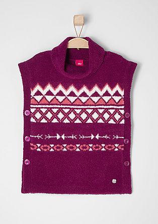 Pleten pulover z vzorcem ikat