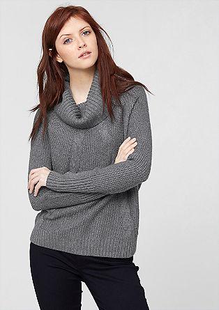 Pleten pulover z vzorcem v obliki kite