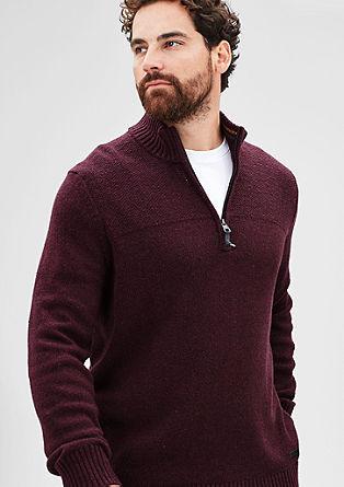 Pleten pulover z zadrgo