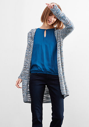 Pletena črno-bela jakna