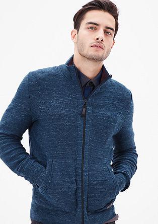 Pletena jakna s teksturo melange