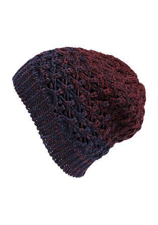 Pletena kapa s prelivanjem barv