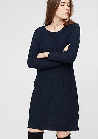 Pletena obleka v videzu narobe obrnjenega oblačila