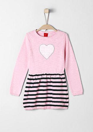 Pletena obleka z motivom srca