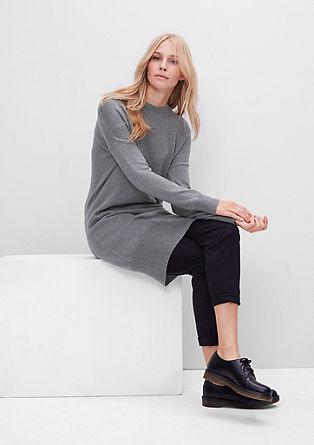 Pletena obleka z volno alpake