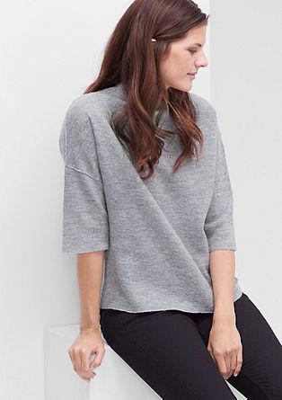 Pletena pulover iz melirane volne
