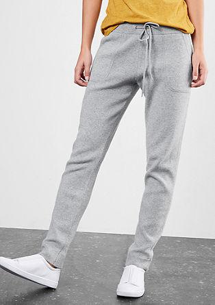 Pletené joggingové kalhoty