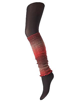 Pletene nogavice brez spodnjega dela v videzu hlačnic
