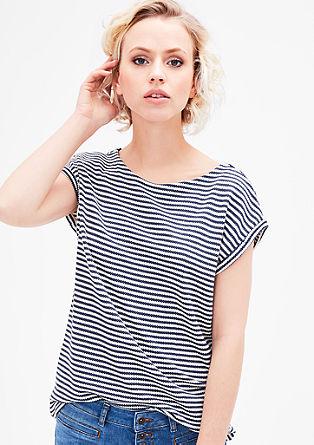 Pletené tričko sažurovým vzorem