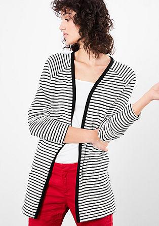 Pletený kabátek s proužky
