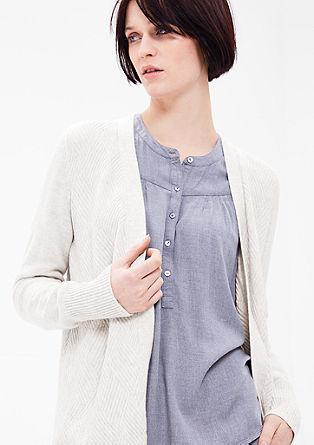Pletený kabátek se vzorem kosočtverců
