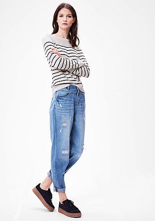 Pletený pulovr se strukturovaným vzorem