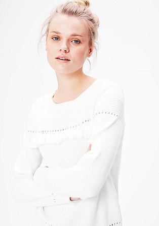 Pletený pulovr v bohémském stylu