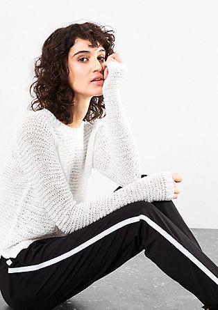Pletený pulovr z páskové příze
