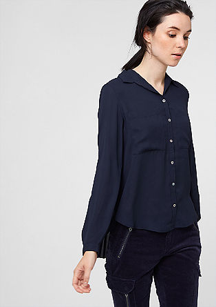 Plisirana bluza iz šifona