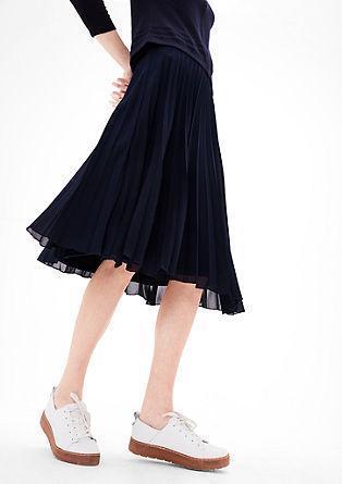 plisovaná sukně midi