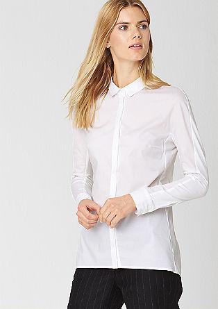 Podaljšana bluza iz raztegljivih vlaken