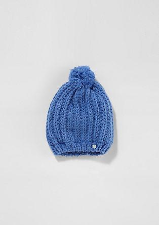 Podložena debelo pletena kapa