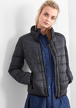 Podložena jakna iz mešanice materialov