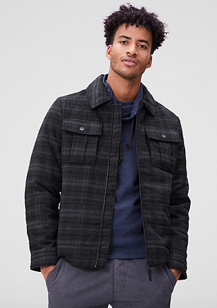 Podložena jakna iz volnene mešanice