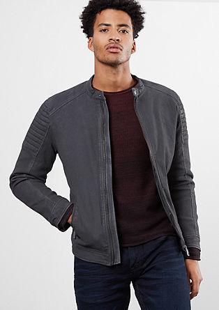 Podložena motoristična jakna iz tvila