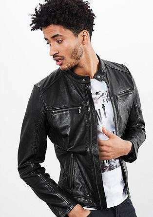 Podložena usnjena jakna