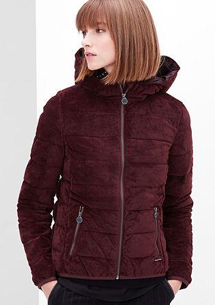 Podložena žametna jakna
