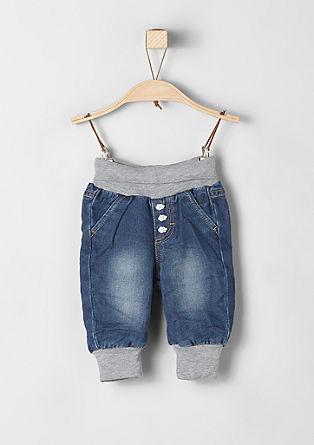 Podložene jeans hlače za dojenčke