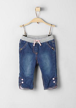 Podložene raztegljive jeans hlače
